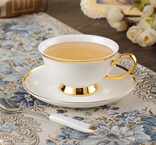 QYYDMKB Gold Inlay Bone China Kaffeeservice Britisches Porzellan Teeservice Keramiktopf Zuckerdose...