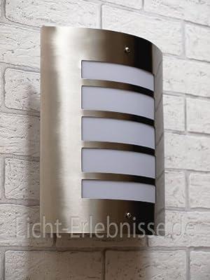 Edelstahl Wand-Außenleuchte IP44 Außenlampe Hoflampe Gartenlampe Gartenleuchte Wandlampe 1016
