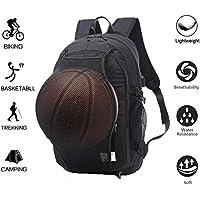 'Valley Comfy Basketball homme Boy Toile Sac à dos Sac à dos sport avec pliable Basketball Net et USB Interface de chargement (Attitudes 15.6Laptop)