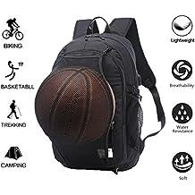 """Valleycomfy - Zaino sportivo da uomo in tela con inserto in tessuto a maglia e interfaccia per ricarica tramite USB adatto per tempo libero, sport, viaggi, schoolbag (fino a 15.6""""), Black"""