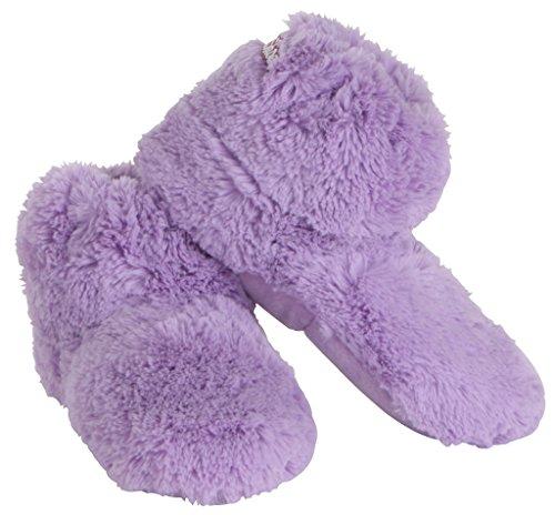 Habibi Shoes Wärmepantoffeln für Mikrowelle/Backofen, lila, Gr. S (34-37)