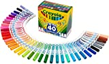 Crayola Broad Line Ultra-Clean Washable Markers (40 Count) by Crayola