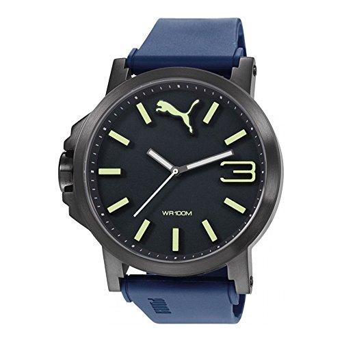 Puma-Time-Explorer-Orologio-da-Polso-Analogico-Uomo-Cinturino-in-Resina-Blu-Blue-Luminous