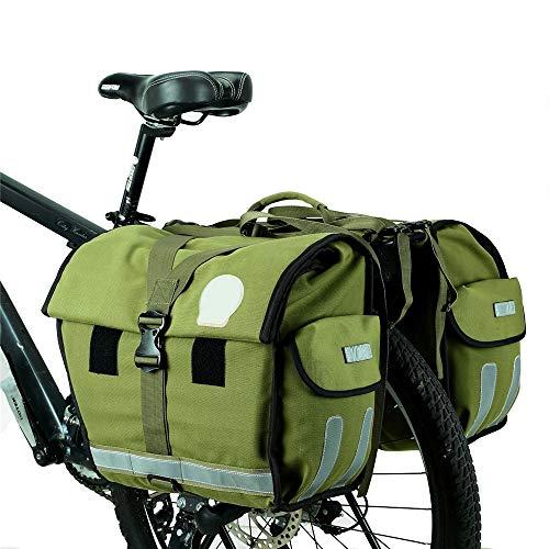 Fahrradrucksack, doppelseitige Gepäcktasche, großes Fassungsvermögen, wasserdicht mit reflektierender Zierleiste und großen Taschen, verstellbare Haken - für Reisen im Freien -