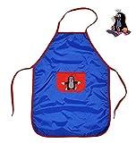 Kinderschürze Der kleine Maulwurf mit Tasche - Größenverstellbar - Schürze Malschürze für Kinder rot blau