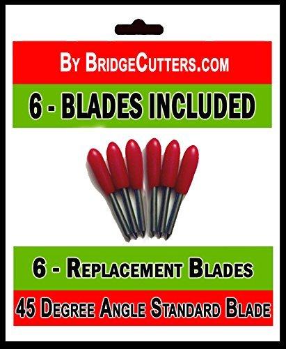 Bridge Cutters Ersatz-Schneideklingen für Bastelschneidemaschinen, Standard, 6Stück