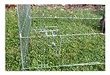 Kaninchen-Freilaufgehege Easy mit Sonnenschutz, Kerbl, XXL, verzinkt, 115 x 115 x 60 cm - 3