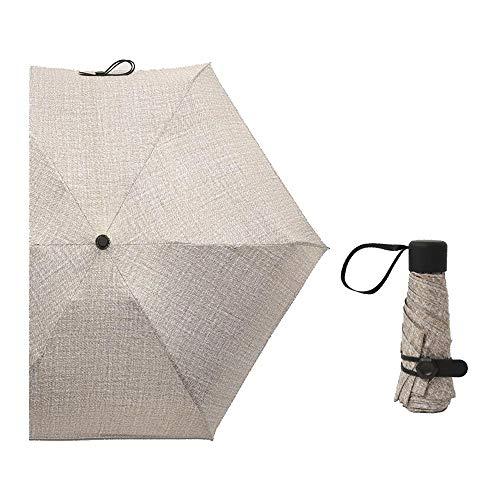 HAIMEI-WU Frauen-Anti-Wind und Regen Dual-Use-Ultra-Light Schwarz Shaping Sunscreen Miniskirt Taschenschirm Leicht (Color : Coffee)