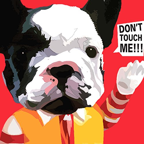 100Yellow Love Dog Quote Printed Unframed Modern Canvas Wall Art Painting - 12 X 12 Inch  available at amazon for Rs.249