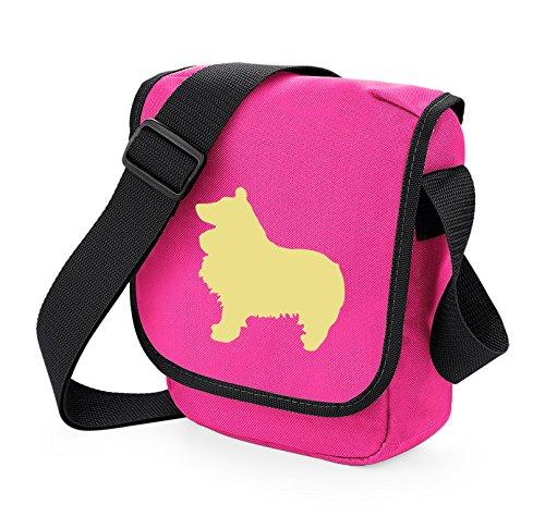 Bag Pixie - Borsa a tracolla unisex adulti Cream Dog Pink Bag