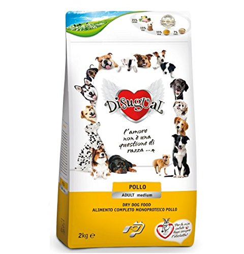 Disugual Puppy Medium Pollo 2 kg - Alimento completo, crocchette per cuccioli di cane di taglia media