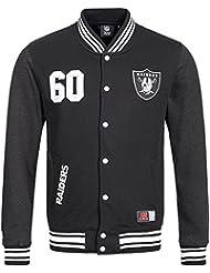 Majestic NFL Oakland Raiders Lutkin BB Letterman College Jacke Jacket
