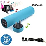 Captcha 3 In 1 Power Bank (4000mAh) + Speaker + Smartphone Stand With In-Ear Headphone Headset With Mic Compatible With Xiaomi, Lenovo, Apple, Samsung, Sony, Oppo, Gionee, Vivo Smartphones (One Year Warranty)