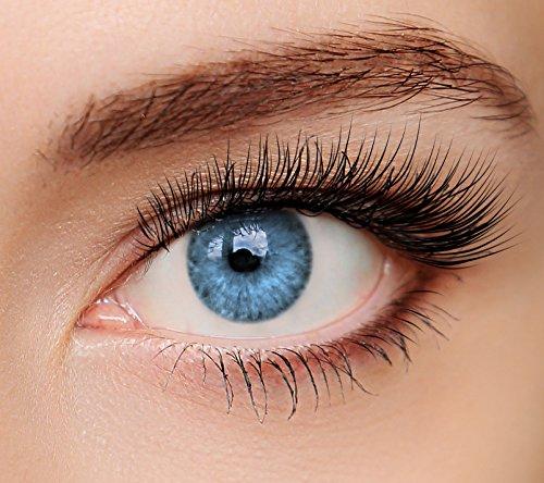 ELFENWALD farbige Kontaktlinsen, INTENSE BLAU, stark deckend, natürlicher Look, maximaler Tragekomfort, ohne Stärke, 1 Paar weiche Farblinsen, inkl. Behälter und Anleitung