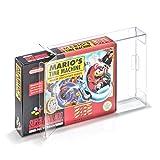 5 Klarsicht Schutzhüllen Super Nintendo [5 x 0,3MM SNES OVP] Spiele Originalverpackungen Passgenau Glasklar