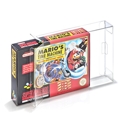 10 Klarsicht Schutzhüllen für Super Nintendo/N64 Spiele Originalverpackungen