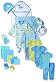 Luvable Friends Baby Take Me Home Gift Set 24 Pieces, Blue Dinosaurs, 0-6 Months