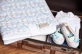 KraftKids Reisewickelunterlage kleine Dreiecke blau grau weiß wasserundurchlässig