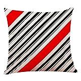 VRTUR Funda de Almohada Decorativa para el hogar de Lino de algodón Sofá Cintura Cojín (45x45cm,Multicolour-I)