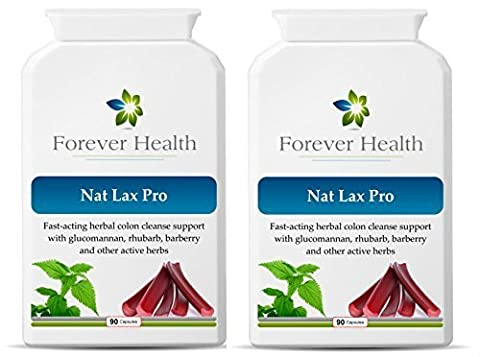 NAT LAX PRO - Nat Lax Pro is the Ultimate Herbal Laxative – It Uses Only POWERFUL HERBAL Ingredients Like RHUBARB WILD YAM and GARLIC To Quickly Relieve a Blocked Colon / Bowel and is based on the World Famous Dr Christopher Formula - Specially Formulated to give Quick relief from Constipation and other Digestive Disorders Like IBS or Irritable Bowel Syndrome - FEEL FRESH and CLEAN - 180 Herbal Tablets