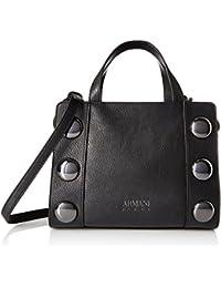 2fc986b1afa2 Armani Jeans Top Handle Large Studded Bag