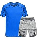 Lilongjiao Sommer-Kurzarm-Set Herren Casual Sportswear Atmungsaktive Sport-Kurzarm-Zweiteiler