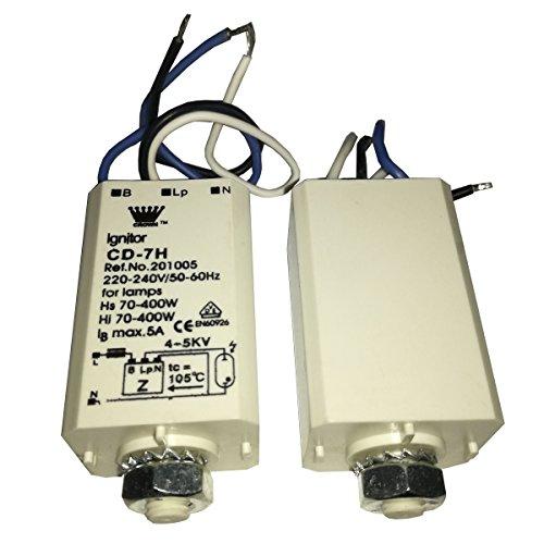 Elektronische Ignitor Vorspeisen für HID HPS Lampen Metall Kompakt Licht 70–400W cd-7h 220–240V 50–60Hz, 3Stück, weiß Farbe