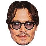 Masque de Célébrité en Carton de Johnny Depp - A l'unité