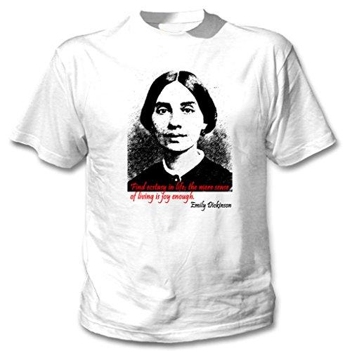 Teesquare1st Men's EMILY DICKINSON New White Cotton T-Shirt Size XXLarge