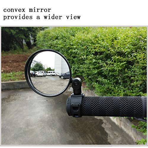 Fahrradspiegel 1pcs Rückspiegel für Fahrrad/E-Bike/Roller/Mofa/Rollstuhl/Rollator/Kinderwagen/Golf Cart mit Schwanenhals für 15-35 MM