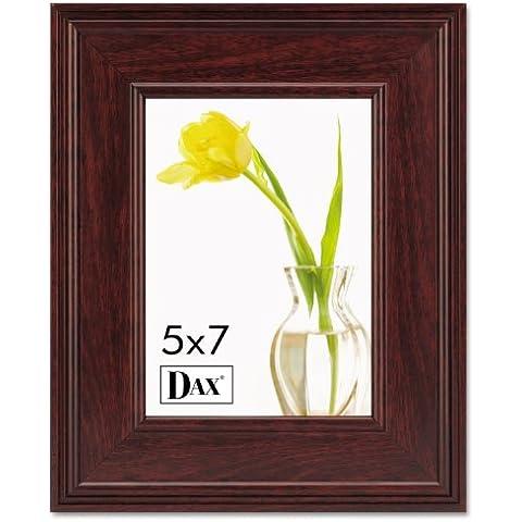 Executive Document/Photo Frame, Desk/Wall Mount, Wood, 5 x 7, Mahogany - A -glance Executive Desk