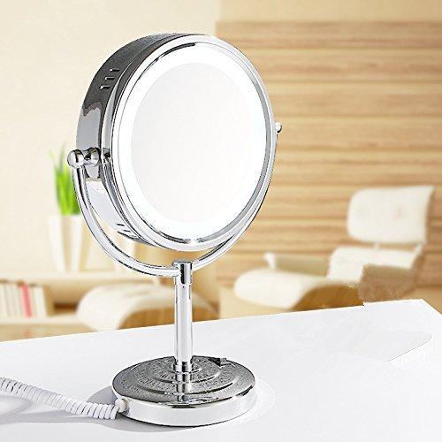 Continental Led Gürtel Lampe Kosmetik Spiegel Desktop Doppelseitige Kosmetikspiegel, Beleuchtete Lupe, 9 Zoll