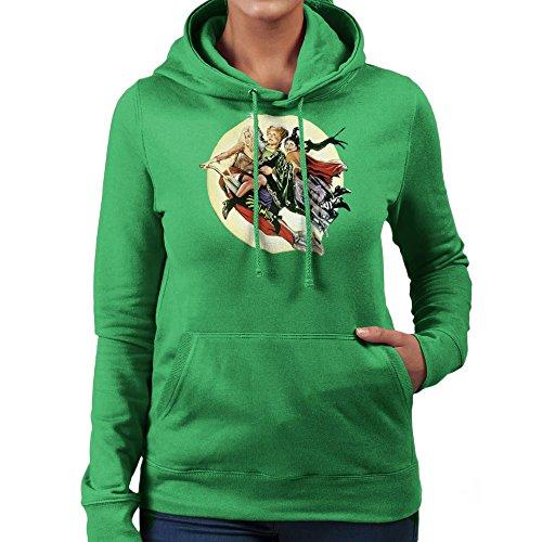 Hocus Pocus Winnifred Sarah Mary Witches Women's Hooded Sweatshirt (Sarah Grün Halloween)