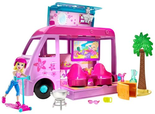Mattel R2630-0 - Polly Pocket - Abenteuerreise-Camper