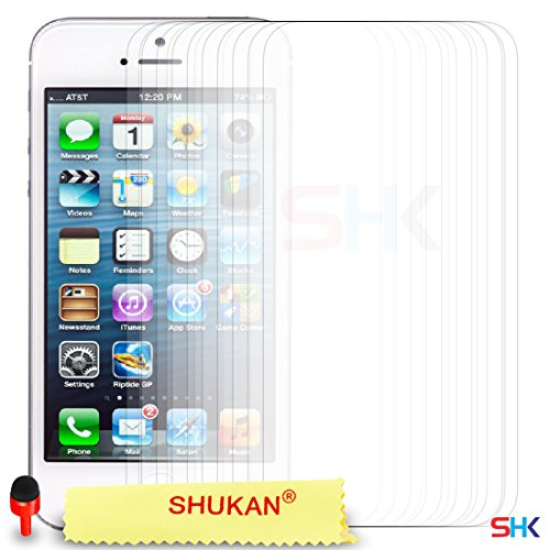 """Apple iPhone 6 / 6S (4.7"""" Inch) Pack 1, 2, 3, 5, 10 Protecteur d'écran & Chiffon SVL0 PAR SHUKAN®, (PACK 5) Pack De 10"""