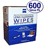 Zeiss Pre-Moistened Lens Cloths Wipes 600 Count by Zeiss