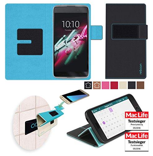 reboon Hülle für Alcatel OneTouch Idol 3C Tasche Cover Case Bumper | Schwarz | Testsieger