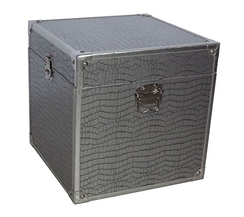 Truhe / Box im Vintagestil, silber