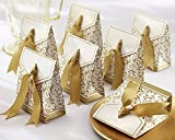 Gold Ribbon Wedding Favor Boxes by Sunvary