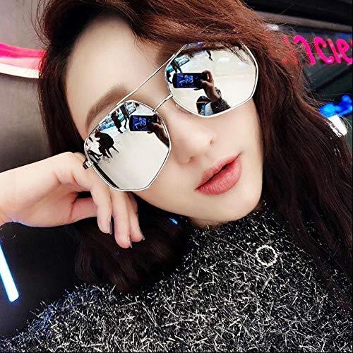 Sonnenbrille-Paar-Modell-rundes Gesichts-Kasten-Metallrahmen-Sonnenbrille-Männer und Frauen-Hipster-Anti-Uv-Sonnenbrille, die Mirror-6 fährt