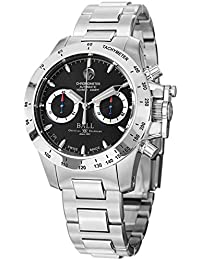 amazon co uk ball watches ball cm2098c scj bk watch magnate choronograph mens black dial stainless steel case automatic movement
