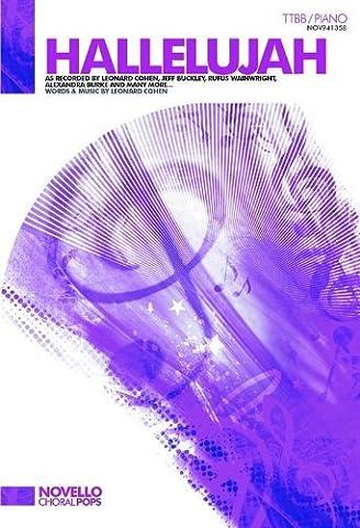 Hallelujah Ttbb Piano by Novello & Co Ltd. (30-Nov-2009) Sheet music