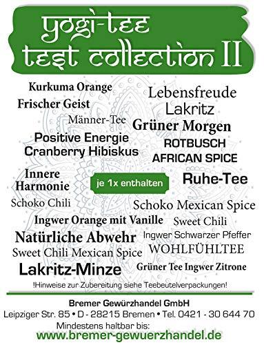 Yogi Tee Test Collection 2 34 Gramm - Bio Yogi Tea im Teebeutel 20 Stück verschiedene Sorten- Ayurvedische Kräuterkomposition - Bremer Gewürzhandel