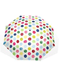 Generic paraguas colorido lunares Auto paraguas poliéster Pongee impermeable compacto paraguas automático paraguas plegable ...