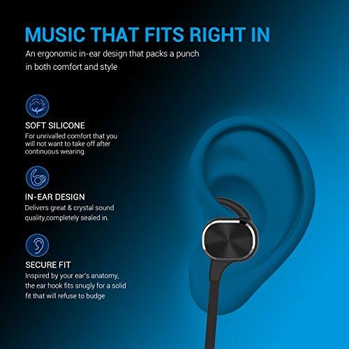 Bluetooth Kopfhörer, MixcMax IPX5 Wasserdichte In Ear Wireless Ohrhörer mit Magnetischer Verbindung, Sport Kopfhörer Eingebautem Mic, HiFi Sound, Noise Cancelling für iPhone, iPad, Android, Tablets, Laptop - Bild 6