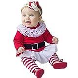 Vine Père Noël Déguisement Enfant Bébé Cosplay tops & Leggings 2Pcs Christmas Ensemble Fille