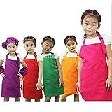 Sharplace Kinder Schürze Malschürze Apron latzschürze Kinderlatzschürze Kinderschürze - Orange, 55 * 48cm