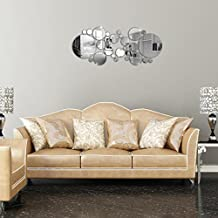 new circle diy tv saln dormitorio de pared espejo de pared pegatinas decorativas para