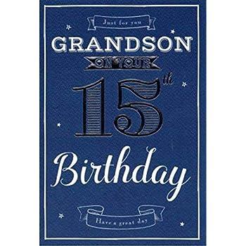 Special Grandson 15th Birthday Card