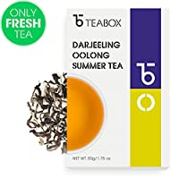 Teabox Darjeeling Oolong Summer Tea 1.75oz (20 Cups) from India   Whole Leaf, Unblended, Single-Origin, Premium Grade Summer-Flush Oolong Tea (Mim Tea Estate)   Delivered Garden Fresh Direct from Sour